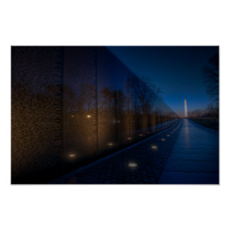 Early Morning At The Vietnam Memorial Poster
