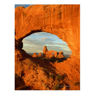 Early morning at Turret Arch seen through North Postcard