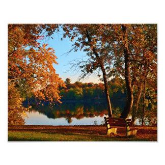 Early Morning Autumn Scene Photo Art