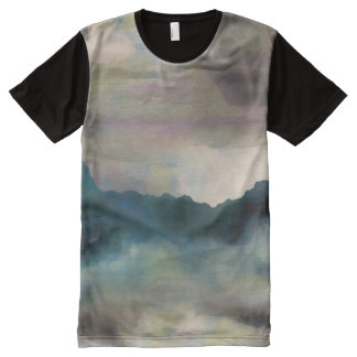 Early Morning Clouds Consume the Mountains All-Over-Print T-Shirt