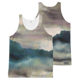 Early Morning Clouds Consume the Mountains All-Over-Print Tank Top