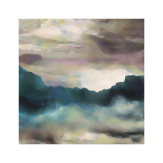 Early Morning Clouds Consume the Mountains Canvas Print