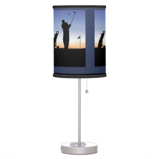 Early Morning Golfing Tee Time Desk Lamps