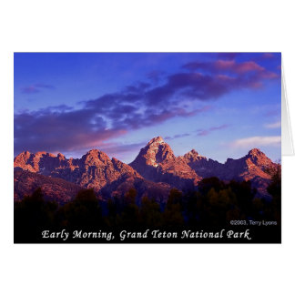 Early Morning Grand Teton National Park Card