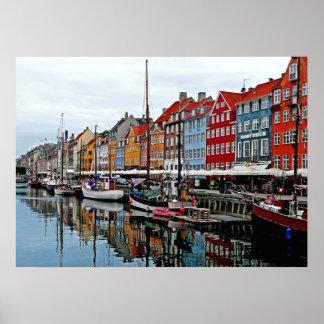 Early Morning in Copenhagen Poster