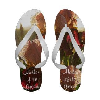 Early Morning Iris Wedding Flip Flops Sandals