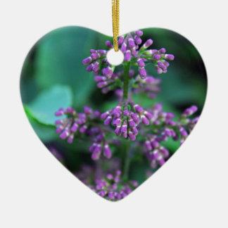 Early Morning Lilacs Ceramic Ornament