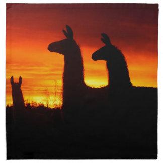 Early Morning Llamas Napkin