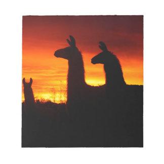Early Morning Llamas Notepad
