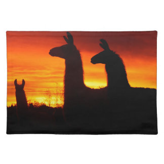 Early Morning Llamas Placemat