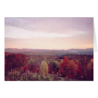 """Early morning mist, October 15, 2008"" Card"