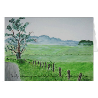 """""""Early Morning on the Blue Ridge""""  Card"""