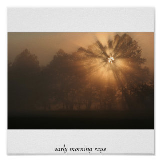 early morning rays poster