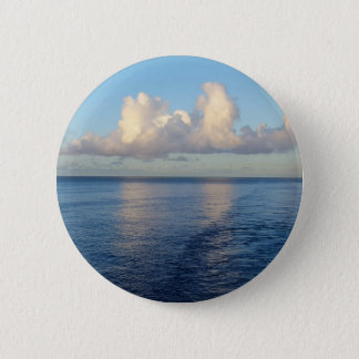 Early morning Seascape Cloud reflections 2 Inch Round Button