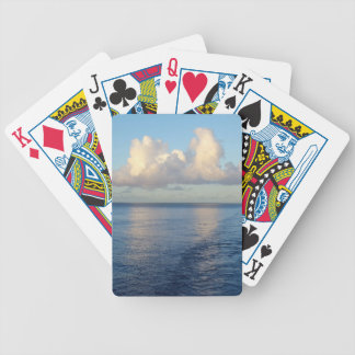 Early morning Seascape Cloud reflections Bicycle Playing Cards