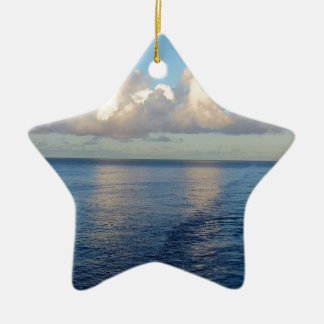 Early morning Seascape Cloud reflections Ceramic Star Ornament