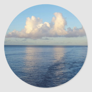 Early morning Seascape Cloud reflections Classic Round Sticker