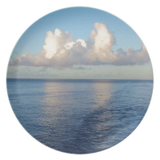 Early morning Seascape Cloud reflections Dinner Plates