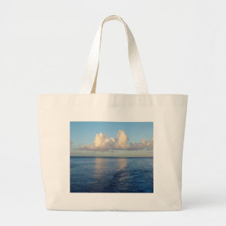Early morning Seascape Cloud reflections Large Tote Bag