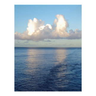 Early morning Seascape Cloud reflections Letterhead