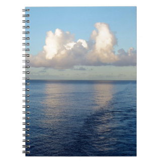 Early morning Seascape Cloud reflections Spiral Note Book
