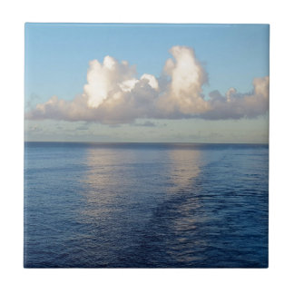 Early morning Seascape Cloud reflections Tile