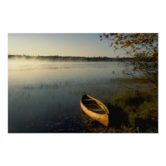 Early morning vapor over Lake Annis, Nova Scotia, Poster