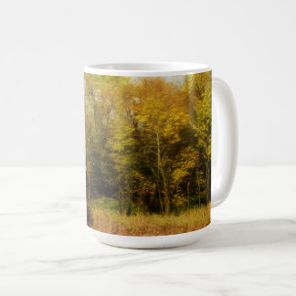 Early October Trees Landscape Coffee Mug