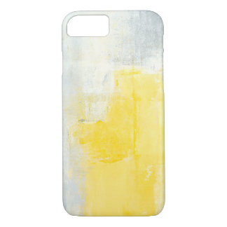 'Early Riser' Grey and Yellow Abstract Art Case