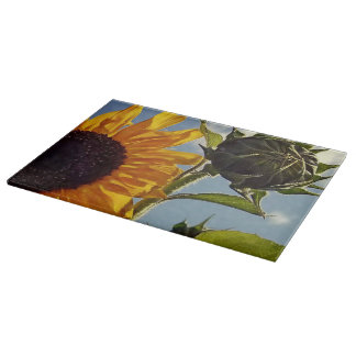 Early Riser Sunflower Cutting Board