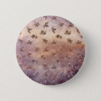 Early Rusty Autumn Melancholic Falling Leaves 2 Inch Round Button