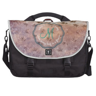 Early Rusty Autumn Melancholic Falling Leaves Bags For Laptop
