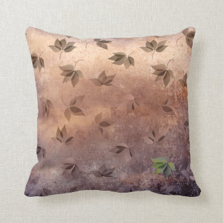 Early Rusty Autumn Melancholic Falling Leaves Throw Pillows