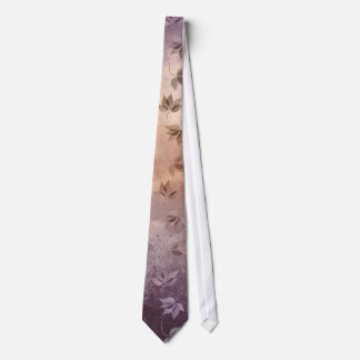 Early Rusty Autumn Melancholic Falling Leaves Tie