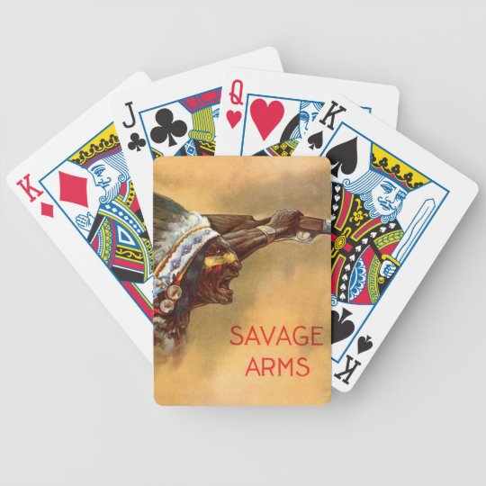 Early Savage Arms Playing Cards -Bicycle Brand