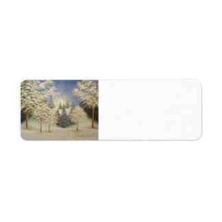 Early Snow Storm Return Address Label