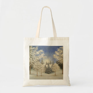 Early Snow Storm Tote Bag