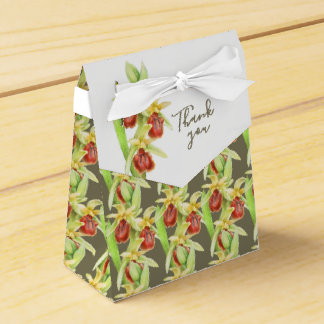 Early spider orchid watercolor thank you gift box