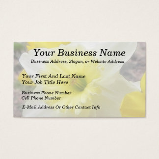 Early Spring Daffodil Business Card
