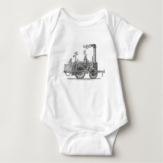 Early Steam Locomotive Baby Bodysuit