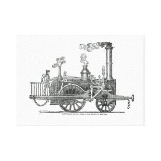 Early Steam Locomotive Canvas Print