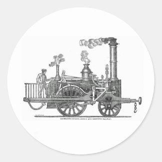 Early Steam Locomotive Classic Round Sticker