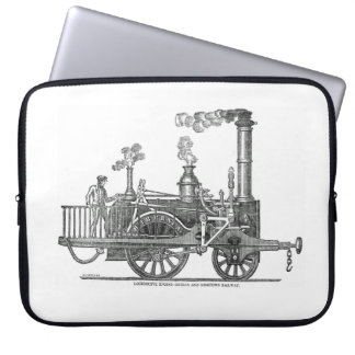 Early Steam Locomotive Laptop Sleeve