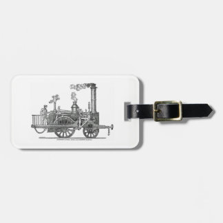 Early Steam Locomotive Luggage Tag