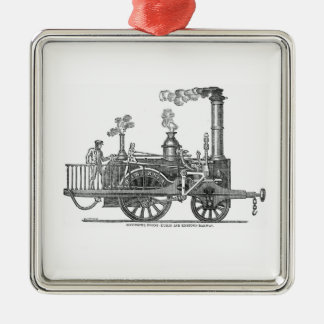 Early Steam Locomotive Metal Ornament