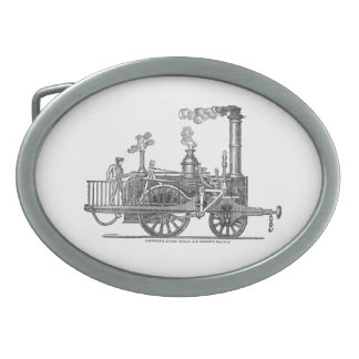 Early Steam Locomotive Oval Belt Buckles