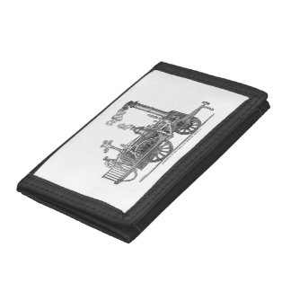 Early Steam Locomotive Trifold Wallet