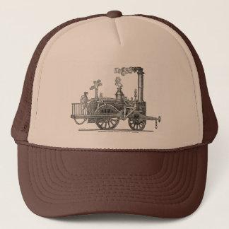 Early Steam Locomotive Trucker Hat