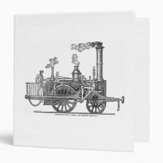 Early Steam Locomotive Vinyl Binder