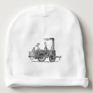 Early Steam Train Locomotive Baby Beanie